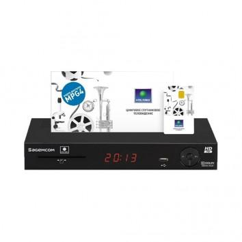 Комплект Спутникового оборудования НТВ+ HD ресивер Sagemcom DSI87-1 + смарт карта НТВ+1200