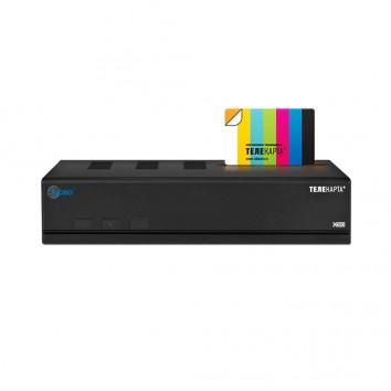 Комплект спутникого ТВ Телекарта с ресивером Globo x90 и картой доступа на 12 мес.
