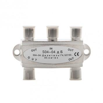 Делитель 4 отвода 5-2150 МГц DC S04-04