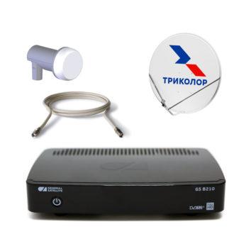 Комплект Спутникового оборудования Триколор ТВ HD GS B210 с антенной и картой на 3 года